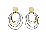 Gold & Silver Earrings by Heather Guidero