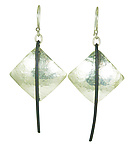 Silver & Steel Earrings by Dennis Higgins