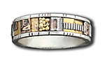Gold & Silver Wedding Band by Lynda Bahr