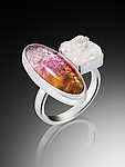 Silver & Glass Ring by Carol Martin