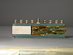 Art Glass Menorah by Alicia Kelemen