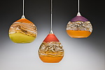 Art Glass Pendant Lamp by Danielle Blade