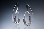 Gold & Silver Earrings by Nina Mann