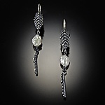 Silver & Pearl Earrings by Dahlia Kanner