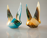 Art Glass Candleholders by Varda Avnisan