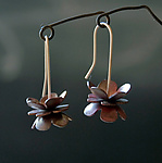 Silver & Copper Earrings by Rone' Prinz