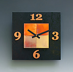 Wood & Copper Clock by Leonie  Lacouette