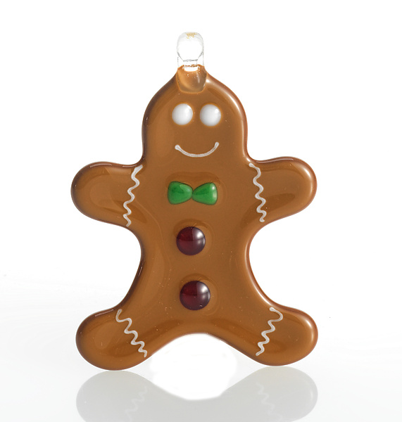 glass gingerbread man ornament